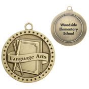 Language Arts Gold Academic Medallion - Personalization Available