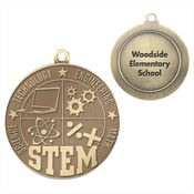 STEM Gold Academic Medallion - Personalization Available