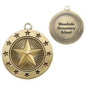 Star Gold Academic Medallion - Personalization Available