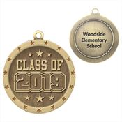 Class Of 2019 Gold Academic Medallion - Personalization Available