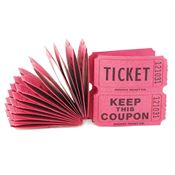 100 ct. Pink Paper Raffle Tickets