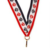 "Red/White/Blue Paw 30"" Neck Ribbon"
