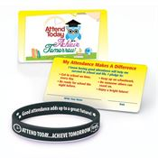 Attend Today Achieve Tomorrow Silicone Bracelet & Pledge Card 20-Piece Kit