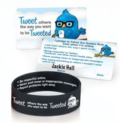 Tweet Others The Way You Want To Be Tweeted Silicone Bracelet & Pledge Card 20-Piece Kit
