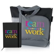 Teamwork Notebook & Tote Bag Gift Set