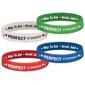 Perfect Attendance 2-Sided Silicone Bracelet 40-Piece Assortment Pack