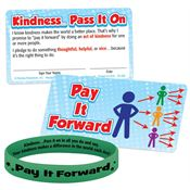 Pay It Forward Silicone Bracelet & Pledge Card