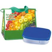 Eat A Rainbow Of Fruits And Vegetables! Lunch Bag & Food Container Combo