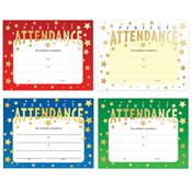 Perfect Attendance Gold Foil-Stamped Certificate 100-Piece Assortment Pack