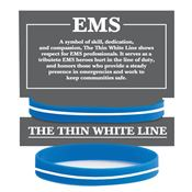 EMS: The Thin White Line Silicone Bracelet With Card