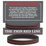 Firefighters: The Thin Red Line Silicone Bracelet With Presentation Card