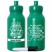 Make Every Day Field Day: Get Out & Play! Green Water Bottle