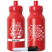 Make Every Day Field Day: Get Out & Play! Red Water Bottle