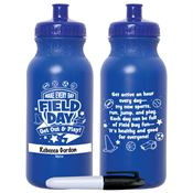 Make Every Day Field Day: Get Out & Play! Royal Blue Water Bottle