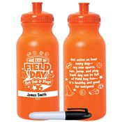 Make Every Day Field Day: Get Out & Play! Orange Water Bottle