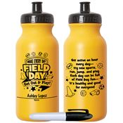 Make Every Day Field Day: Get Out & Play! Gold Water Bottle