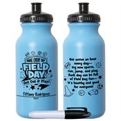 Make Every Day Field Day: Get Out & Play! Light Blue Water Bottle
