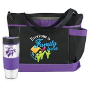 Everyone is Family Here Tumbler And Tote Combo