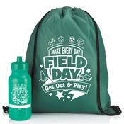 Field Day Drawstring Backpack & Water Bottle Combo
