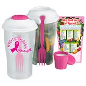 Hope, Faith, Courage, Strength Salad To Go Shaker & Magnet Combo