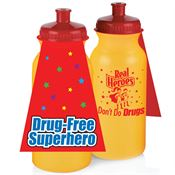 Real Heroes Don't Do Drugs 20-Oz. Water Bottle With Cape