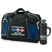 In This Family No One Stands Alone Duffel Bag & Travel Mug Combo