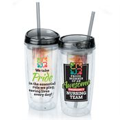 Proud Member Of An Awesome Emergency Nursing Team Double Wall Acrylic Tumbler With Infuser & Straw