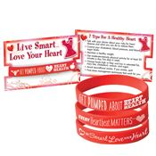 Red Silicone Awareness Bracelets With Reminder Card Assortment Pack