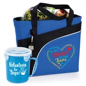 Volunteers Are The Heart Of Our Team Harvard Lunch/Cooler Bag & Soup Mug Gift Set