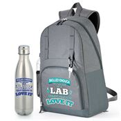 Skilled Enough To Work In A Lab, Crazy Enough To Love It Backpack & Vacuum Bottle Gift Set
