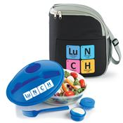 Lunch Periodic Table On-The-Go Food Container & Eastport Lunch/Cooler Bag Gift Set