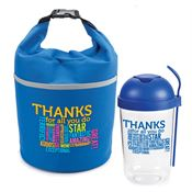 Thanks For All You Do Salad Shaker & Bellmore Cooler Lunch Bag Combo