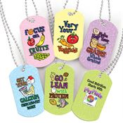 MyPlate Food Group Tags with 4
