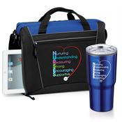 Nurses Westbury Briefcase Bag & Timber Insulated Stainless Steel Travel Tumbler Combo