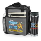 Telecommunicators: We Are More Than Just A Voice Lunch Cooler Bag & Insulated Travel Tumbler Gift Set