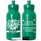 Field Day: Best Day Ever Green Water Bottle With Permanent Marker