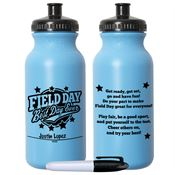 Field Day: Best Day Ever Light Blue Water Bottle With Permanent Marker