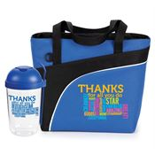 Thanks For All You Do Salad Shaker & Harvard Lunch/Cooler Bag Combo