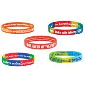 Motivational 2-Sided Silicone Bracelet 50-Piece Assortment Pack