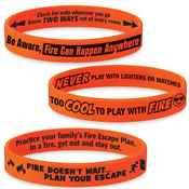 Fire Safety Mood-Changing Silicone Bracelet Assortment Pack