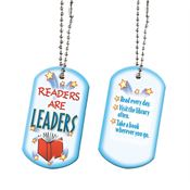"Readers Are Leaders Tag With 24"" Chain"