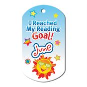 "I Reached My Reading Goal June Award Tag With 24"" Chain"