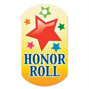 "Honor Roll Red Star Design Award Tag With 4"" Chain"