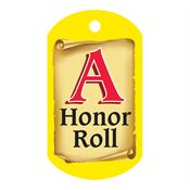"A Honor Roll Award Tag With 24"" Chain"