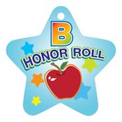 "B Honor Roll Star-Shaped With Apple Design Award Tag With 4"" Chain"