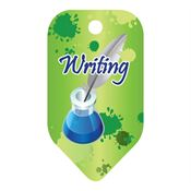 Writing Laminated Award Tag With 4