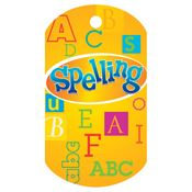 Spelling Laminated Award Tag With 24
