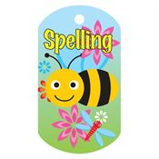 Spelling (Bee) Laminated Award Tag With 24