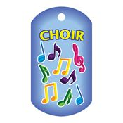 Choir Laminated Award Tag With 4