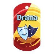 Drama Laminated Award Tag With 4